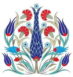 Oriental ottoman design seven vector