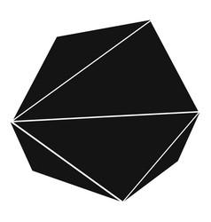 origami stone icon simple black style vector image