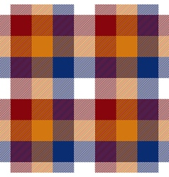 Red orange blue white check seamless pattern vector