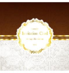 Royal invitation card vector