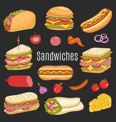 Sandwich set sketch vector