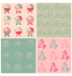 Seamless Baby Backgrounds vector image