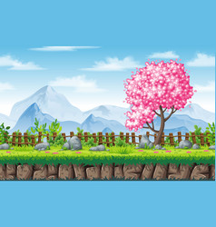 seamless spring nature background with separate vector image vector image