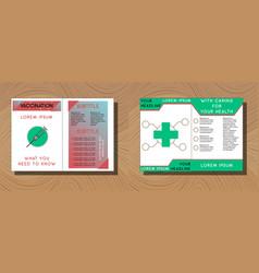 Set of medical brochure cover template flyer vector