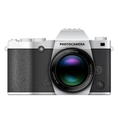SLR retro camera vector image vector image
