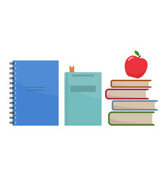 stack of school books vector image