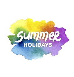 Summer holidays hand drawn lettering on a vector image