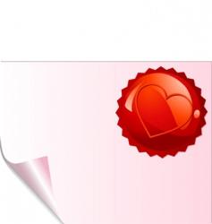 Valentine's emblem vector image vector image