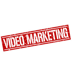 Video marketing square grunge stamp vector