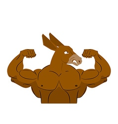 Wild strong donkey athlete aggressive fitness vector