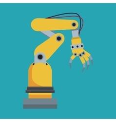 industrial robot hand tool vector image