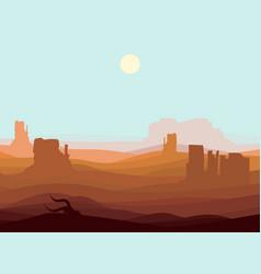 western desert landscape background vector image
