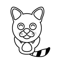 raccoon animal toy outline vector image