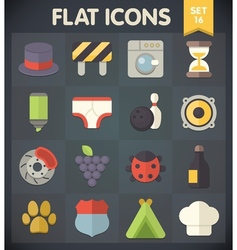 Universal flat icons for applications set 15 vector