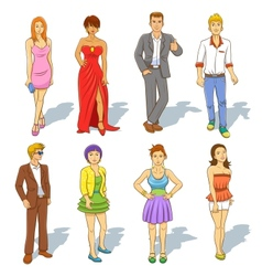 Group of people cartoon vector