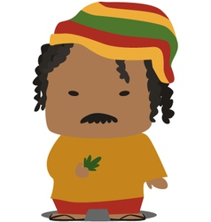 jamaican person vector image