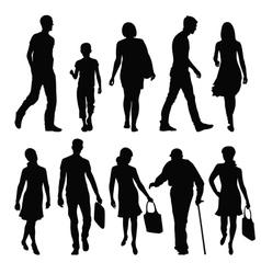 Pedestrians vector