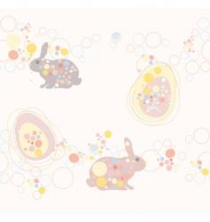 Cute seamless easter rabbit an vector