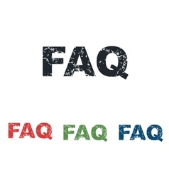 Faq grunge icon set vector