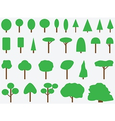 Simple drawn trees vector image