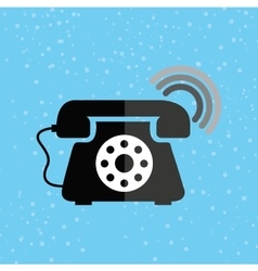 Telephonic service design vector