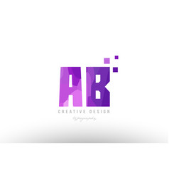 Ab a b pink alphabet letter logo combination with vector