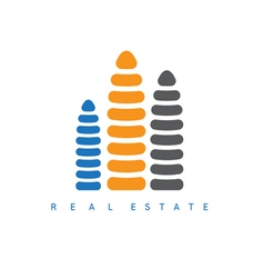 abstract design template of real estate company vector image vector image