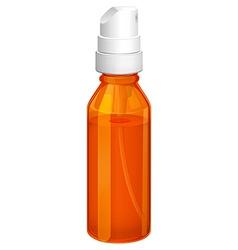 An orange spray bottle vector