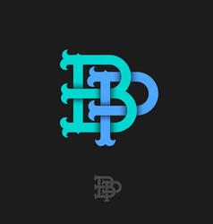 B p monogram vector