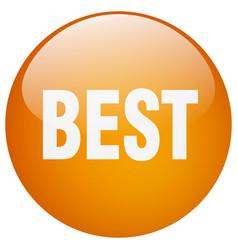 Best orange round gel isolated push button vector