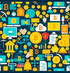 Bitcoin tile pattern vector