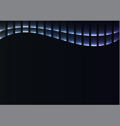 Blue abstract pixel curve background vector