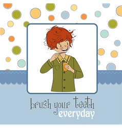 Brush your teeth vector