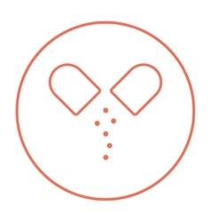 Capsule pill line icon vector