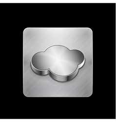 cloud phone button vector image vector image