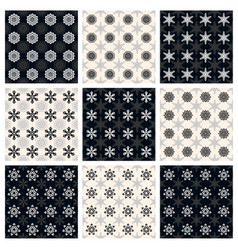 Collection of seamless geometric patterns vector