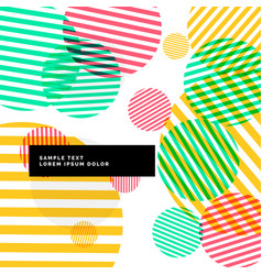 colroful abstract circles background vector image vector image