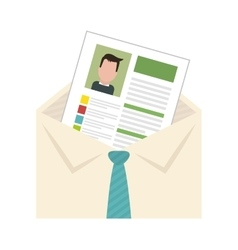 cv or resume related icons image vector image