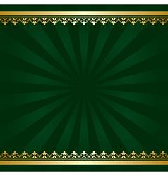 dark green background with golden decorations vector image vector image