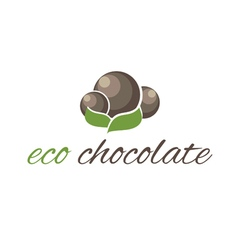Eco chocolate chocolate candies vector