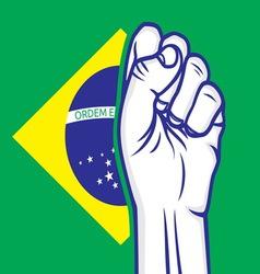 fist brasil resize vector image