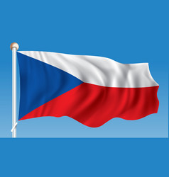 Flag of czech republic vector