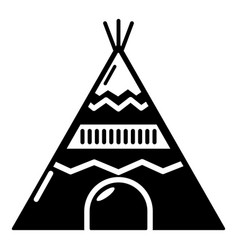 Indian tent icon simple black style vector