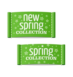 New spring collection clothing labels vector image