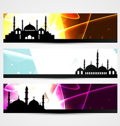 ramadan and eid headers vector image