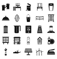 Refinement icons set simple style vector