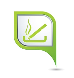 Smoking green pointer vector