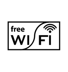 Thin line free wifi icon vector