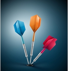 Three darts vector image