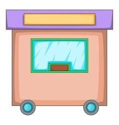 Travel trailer icon cartoon style vector